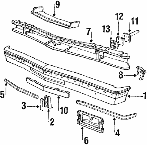 Bumper & Components - Front for 1988 Lincoln Town Car | TascaParts.comTasca Parts
