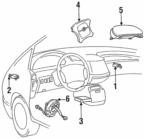 Air Bag Components For 1996 Toyota Previa