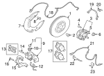 Disc Brake Caliper - Land-Rover (LR064683)