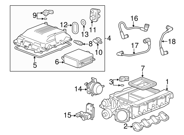 Genuine GM Sensor 12614717