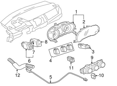 Instruments Gauges For 2008 Mitsubishi Lancer Evolution Mr