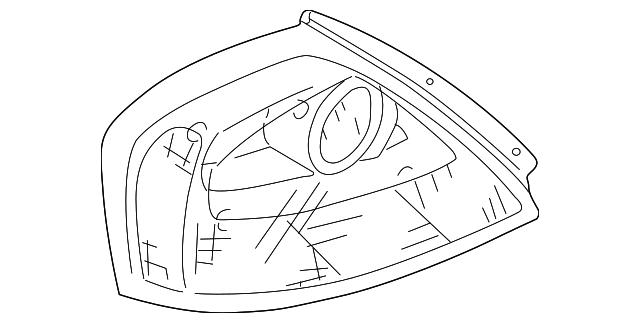 2004 Infiniti Q45 Lens Housing 26559 Ar001