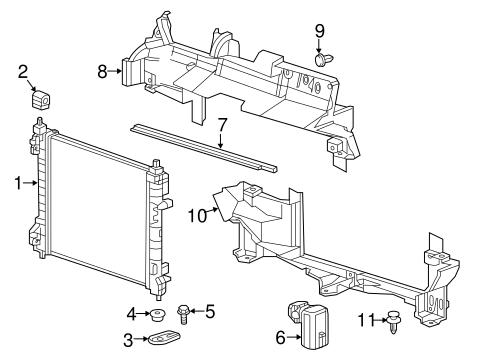 radiator components parts for 2016 chevrolet spark gm parts club. Black Bedroom Furniture Sets. Home Design Ideas