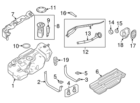 Fuel System/Fuel System Components for 2014 Ford Expedition #1