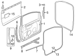 Door Weather-Strip - Volkswagen (1K3-837-702-E-9B9)