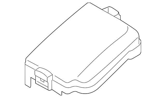genuine kia fuse box cover 91950
