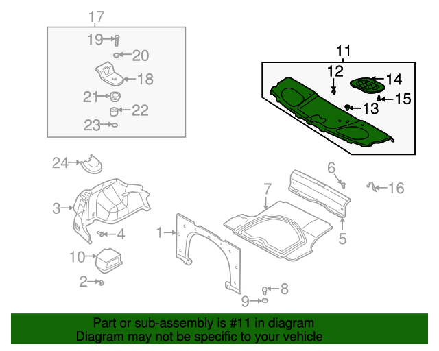 Right Genuine Hyundai 85860-2D000-ZR Pillar Trim Assembly Rear