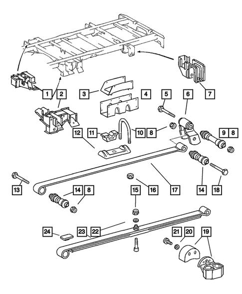 Genuine Chrysler 5104061AA Suspension Shock