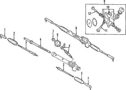 Steering Gear Linkage For 2001 Infiniti Qx4