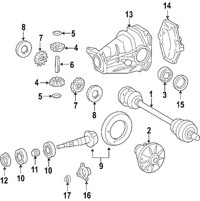 Axle Assembly - Mercedes-Benz (209-350-12-10)