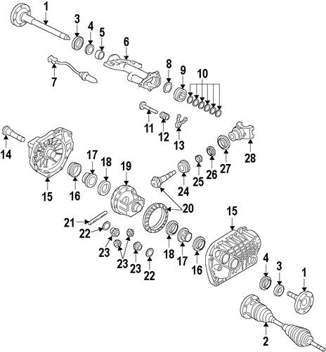 Oem 2013 Gmc Yukon Front Axle Parts