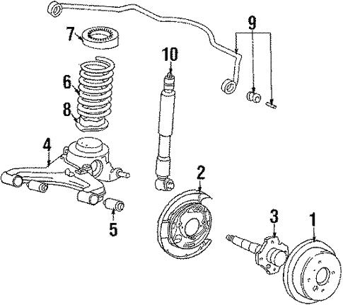 genuine oem rear suspension parts for 1984 toyota celica 86 & 39;92 toyota supra mkiii front