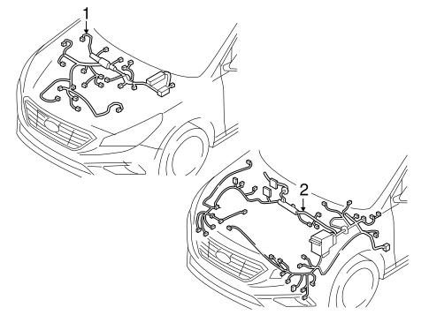 electrical/wiring harness for 2017 hyundai sonata #1