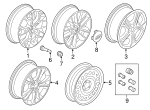 Wheel, Alloy - Ford (GJ5Z-1007-C)