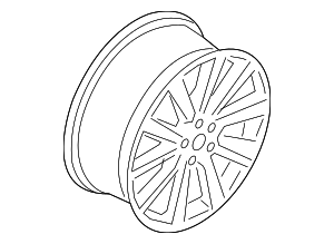 Wheel, Alloy - Ford (GD9Z-1007-A)