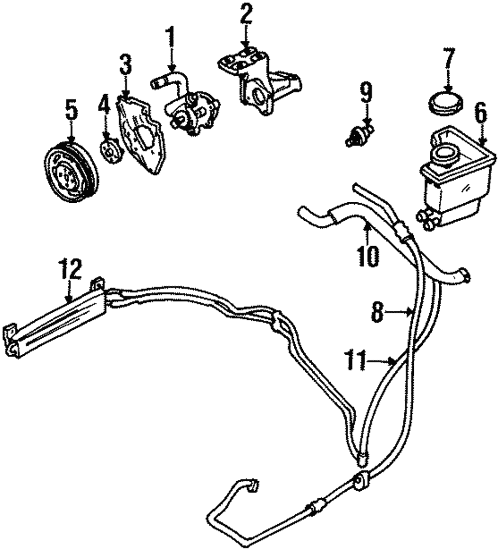 Genuine Ford Power Steering Pump Bracket 1s7z