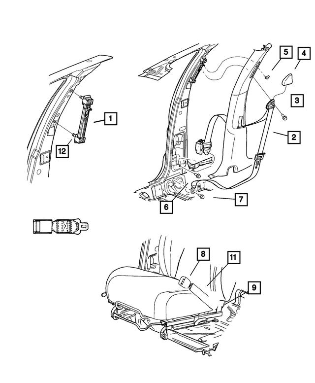 srt4 belt diagram 2003 2005 dodge neon front outer seat belt  right ux761x9ad  2005 dodge neon front outer seat belt