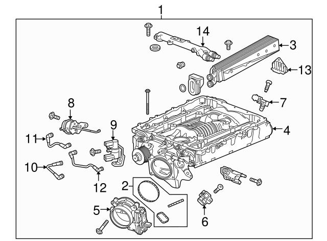 GM OEM Throttle Body-Gasket 12639086