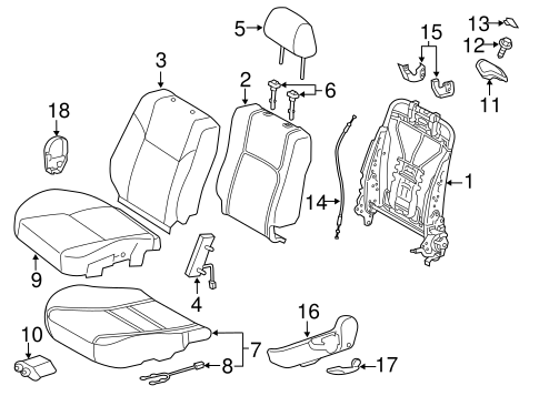 BODY/FRONT SEAT COMPONENTS for 2012 Scion tC #1