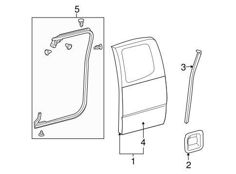 BODY/DOOR & COMPONENTS for 2014 Toyota Tacoma #1