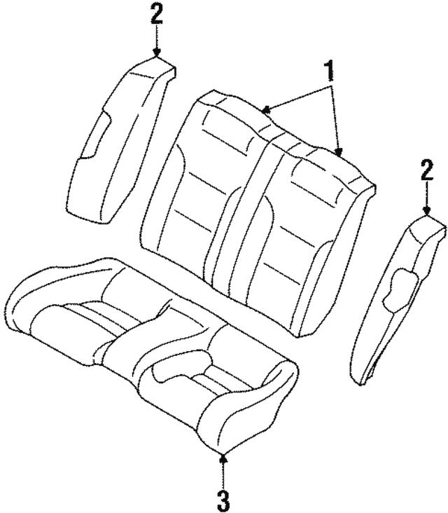 1995 2000 Mopar Seat Back Mr766424