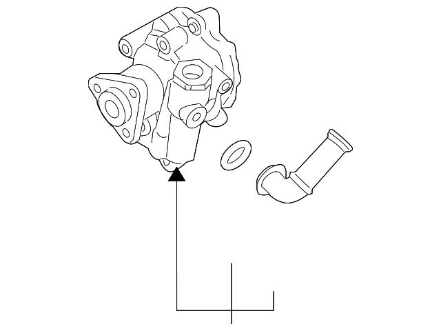 2008 2010 Porsche Cayenne Power Steering Pump 955 314 050 05