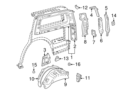 BODY/INNER STRUCTURE for 2002 Toyota Land Cruiser #1