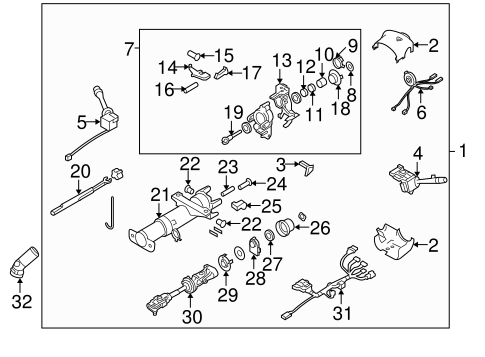 Terrific Steering Column Assembly For 2006 Pontiac Grand Prix Quickparts Wiring Digital Resources Bioskbiperorg