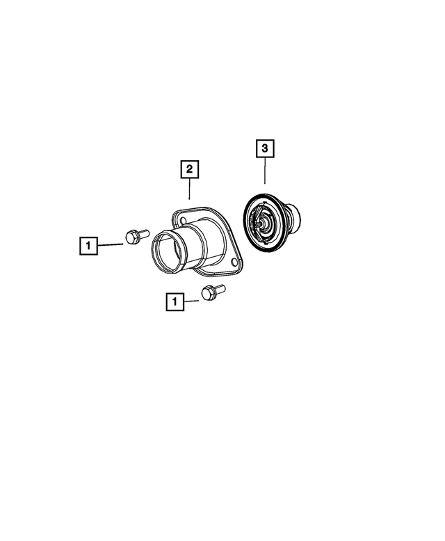 Thermostat Housing - Mopar (53010923AA)