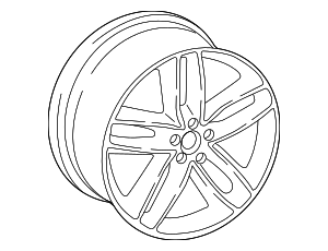 Wheel, Alloy - Audi (4M0-601-025-T)
