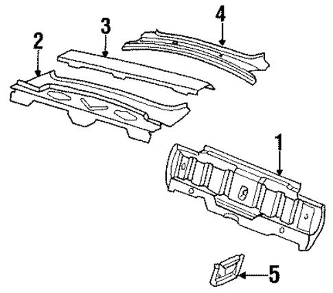 oem 1986 buick century rear body parts