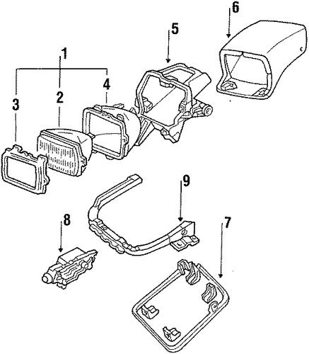oem 1991 chevrolet corvette headlamp components parts