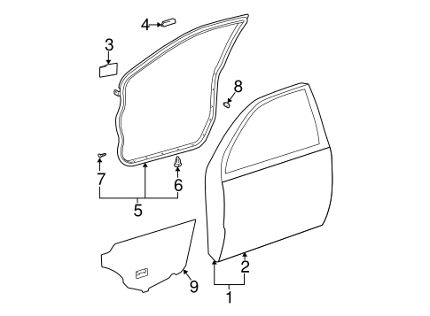 BODY/DOOR & COMPONENTS for 2005 Toyota Camry #3