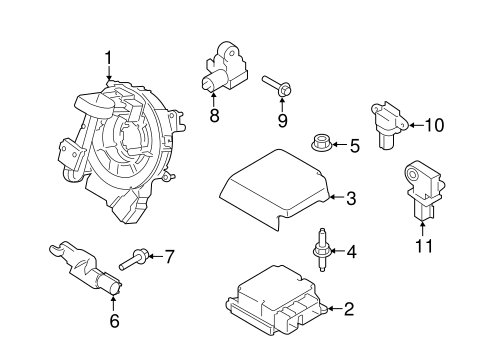 Electrical/Air Bag Components for 2016 Ford F-150 #1