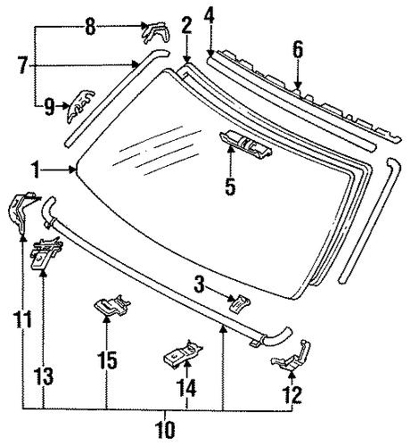 reveal moldings for 1993 toyota 4runner