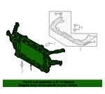 Radiator Support - Hyundai (64101-D2000)