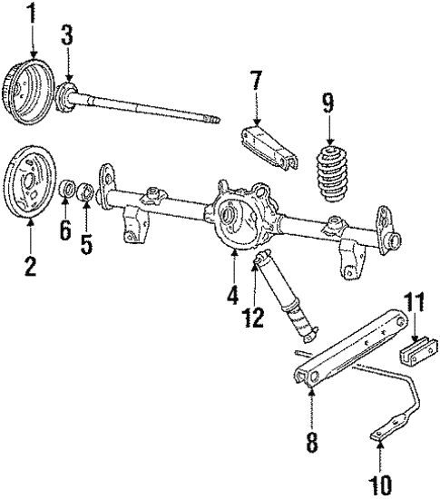 oem 1988 chevrolet caprice rear suspension parts gmpartsonline net Impala SS rear suspension rear suspension for 1988 chevrolet caprice 1