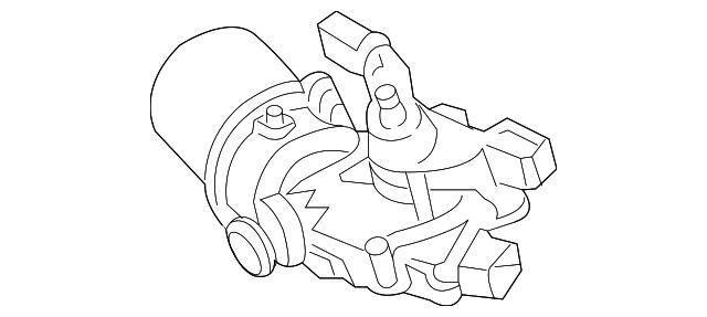 2014 2019 Toyota Highlander Wiper Motor 85110 0e060