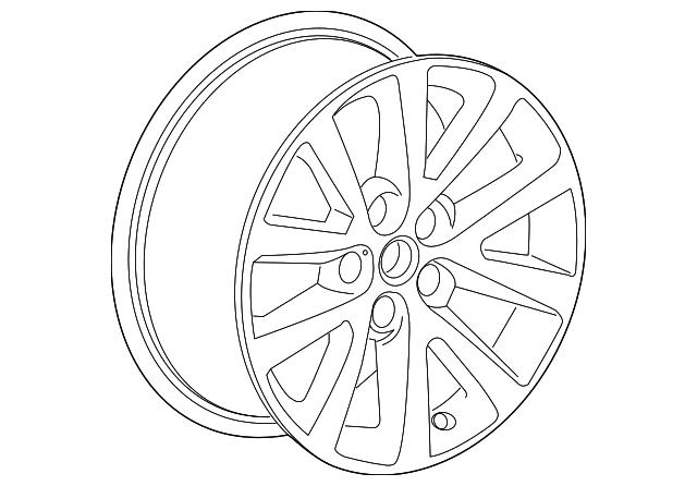 2013 Chevrolet Malibu Wheel Alloy 23123760