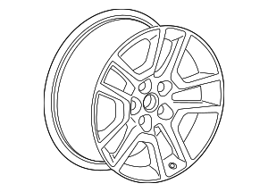 Wheel, Alloy - GM (23123754)