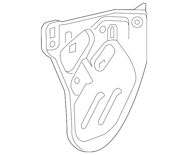 2018 2019 Chevrolet Traverse Water Deflector 23166536
