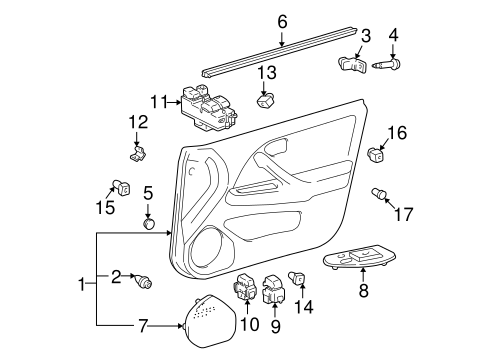 ELECTRICAL/FRONT DOOR for 1998 Toyota Camry #3