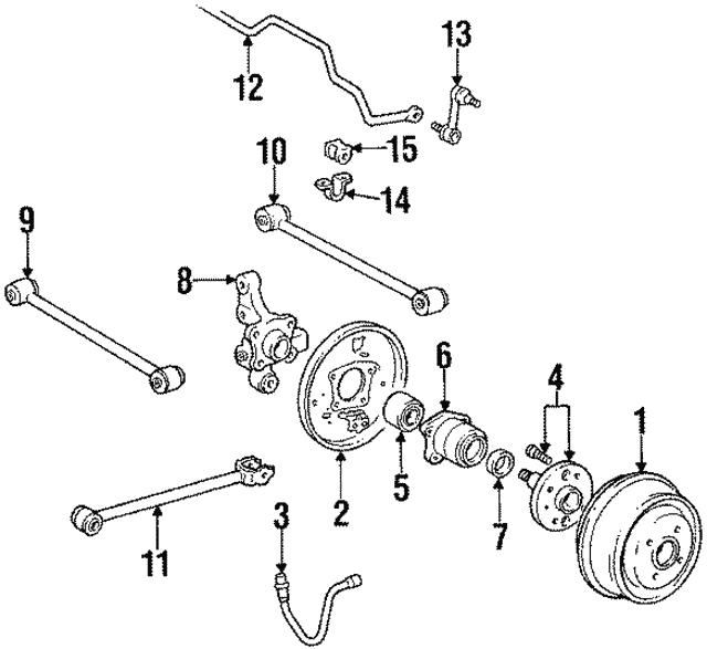 TOYOTA 47043-32010 Drum Brake Backing Plate