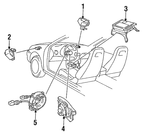 Air Bag Components For 1995 Toyota Paseo Camelback Toyota Parts