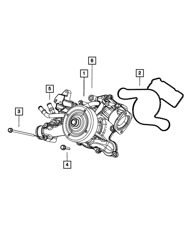 Water Pump - Mopar (5192-066AD)