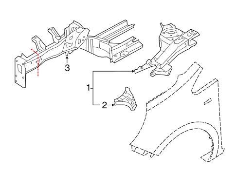 Structural Components Rails For 2015 Kia Rio