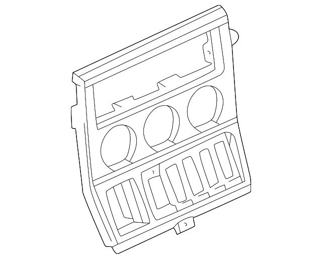 2000 2002 Bmw Z3 Radio Trim 51 16 8 413 416