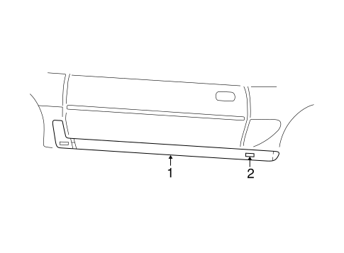 Body/Exterior Trim - Pillars for 2000 Ford Mustang #1
