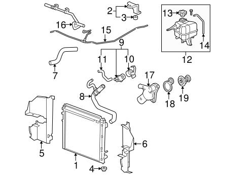 [SCHEMATICS_4CA]  Radiator & Components for 2004 Cadillac SRX | GM Wholesale Direct | 2004 Srx Engine Diagram |  | GM Wholesale Direct