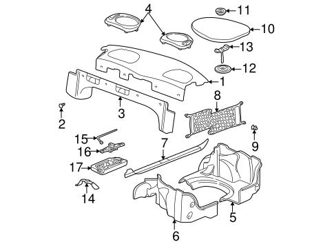 oem 2004 oldsmobile alero interior trim rear body parts. Black Bedroom Furniture Sets. Home Design Ideas